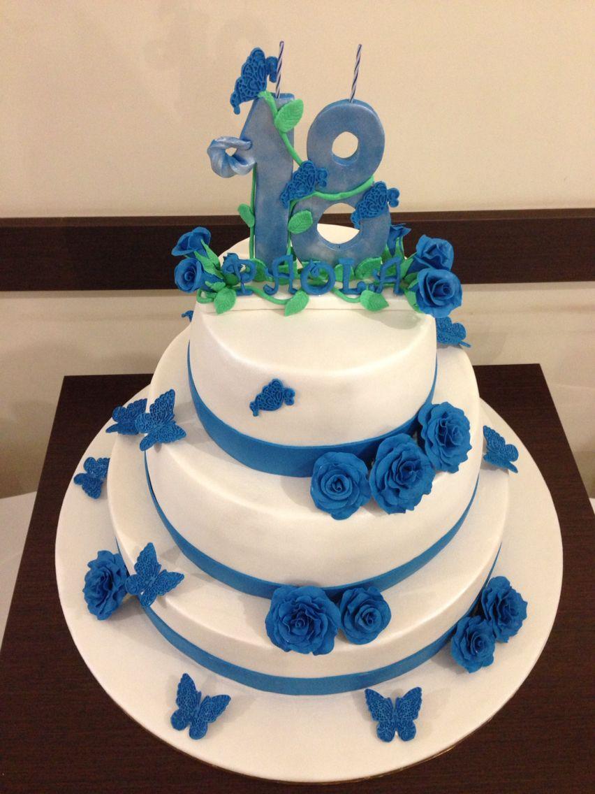 18 anni torte con i fiori pinterest for Torte 18 anni ragazzo