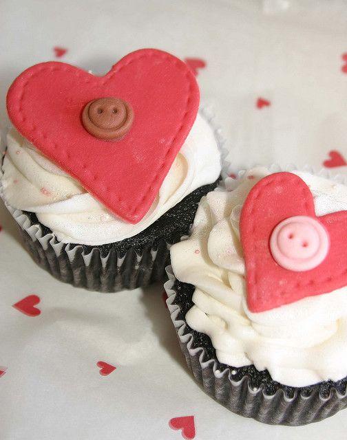 Valentine's Heart Cupcakes by Grace Stevens