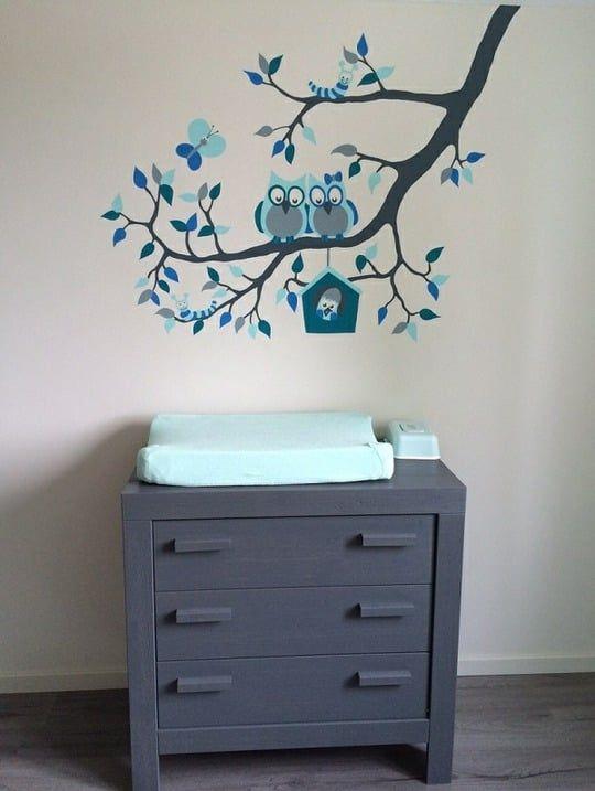 Genoeg Muurschildering Babykamer Uil : Schilderijtjes Babykamer Zelf  #ZS94