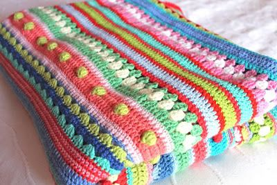 as-we-go stripey blanket, crochet-a-long 2014, CAL2014, gehaakte deken, elke week een stukje