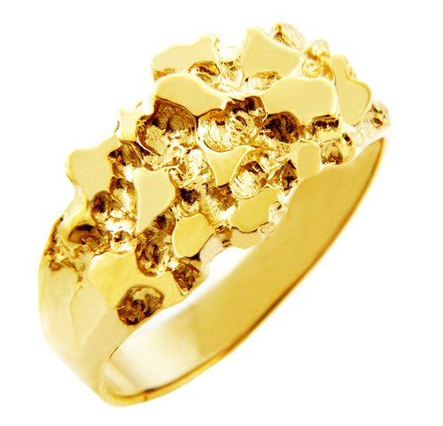 Men S 10k Gold Nugget Ring The Knight Http Www Loveuniquerings Com Mens Gold Rings Mens 10k Gold Nugget Ring Gold Nugget Ring Mens Gold Rings Gold Nugget