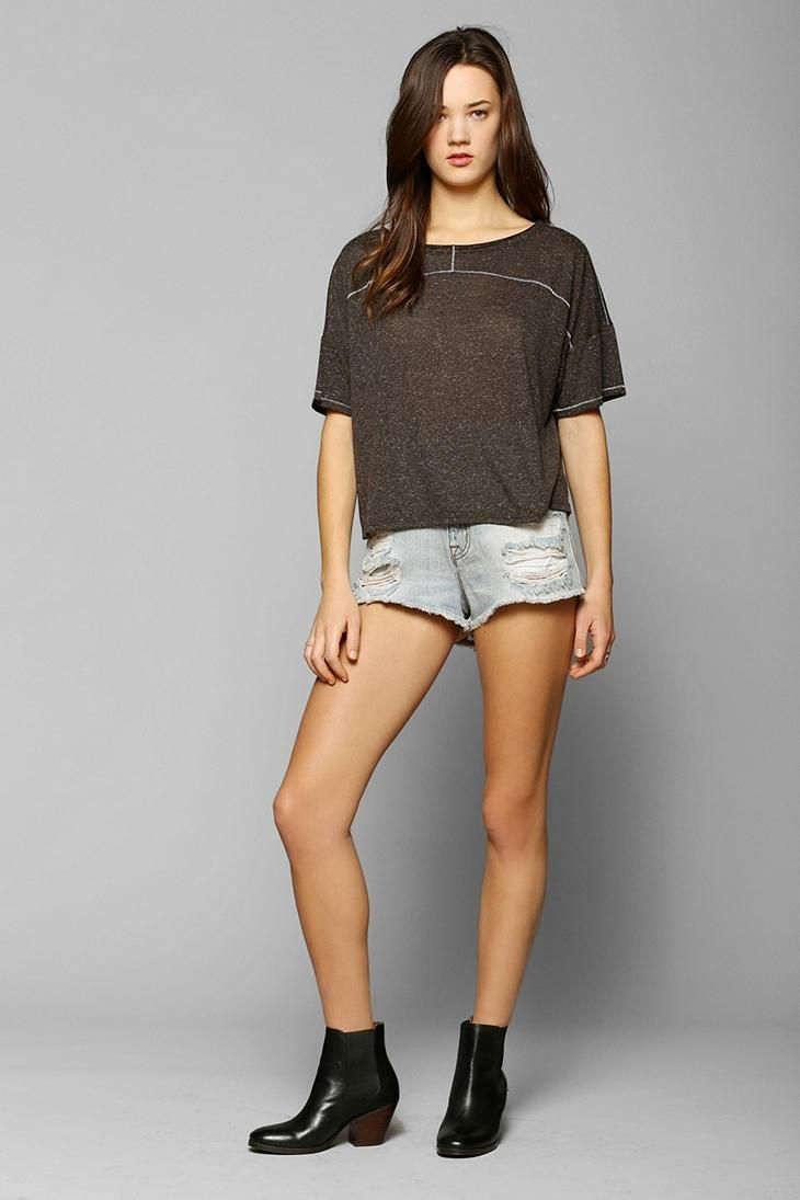 BDG Contrast-Stitch Boxy Top #urbanoutfitters