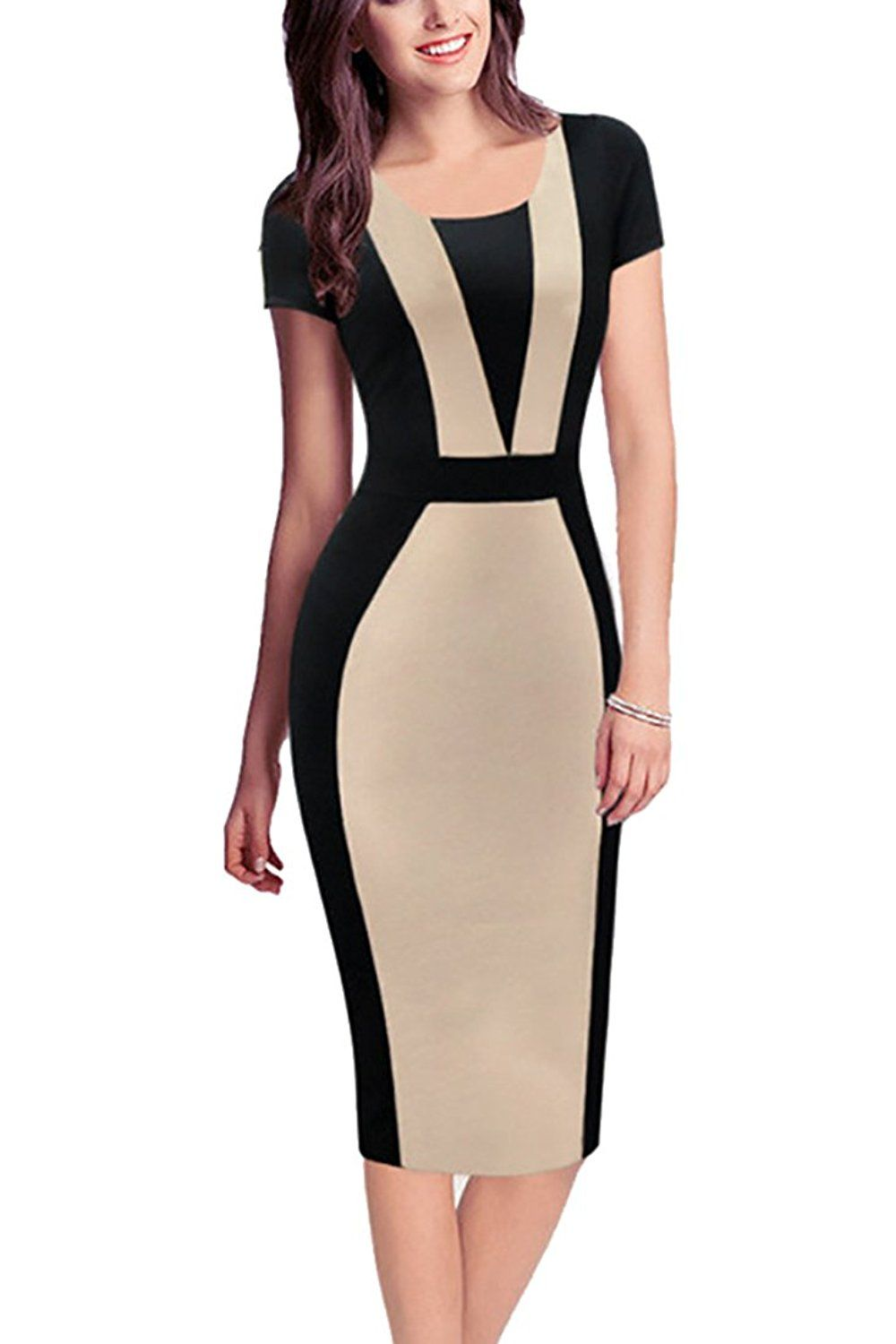 bb7645d5dc743 REPHYLLIS Women Summer Round Neck Business Working Cocktail Party Bodycon  Dress * This is an Amazon Affiliate link. Check out this great product.