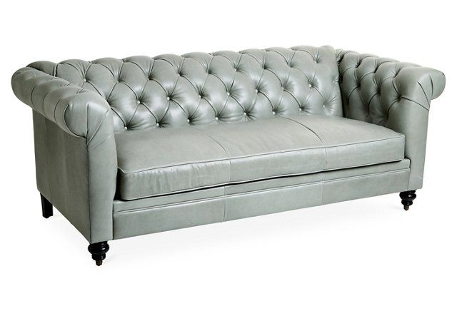 Admirable Our Buttery Soft Sage Leather Rockport Chesterfield Sofa Is Ibusinesslaw Wood Chair Design Ideas Ibusinesslaworg
