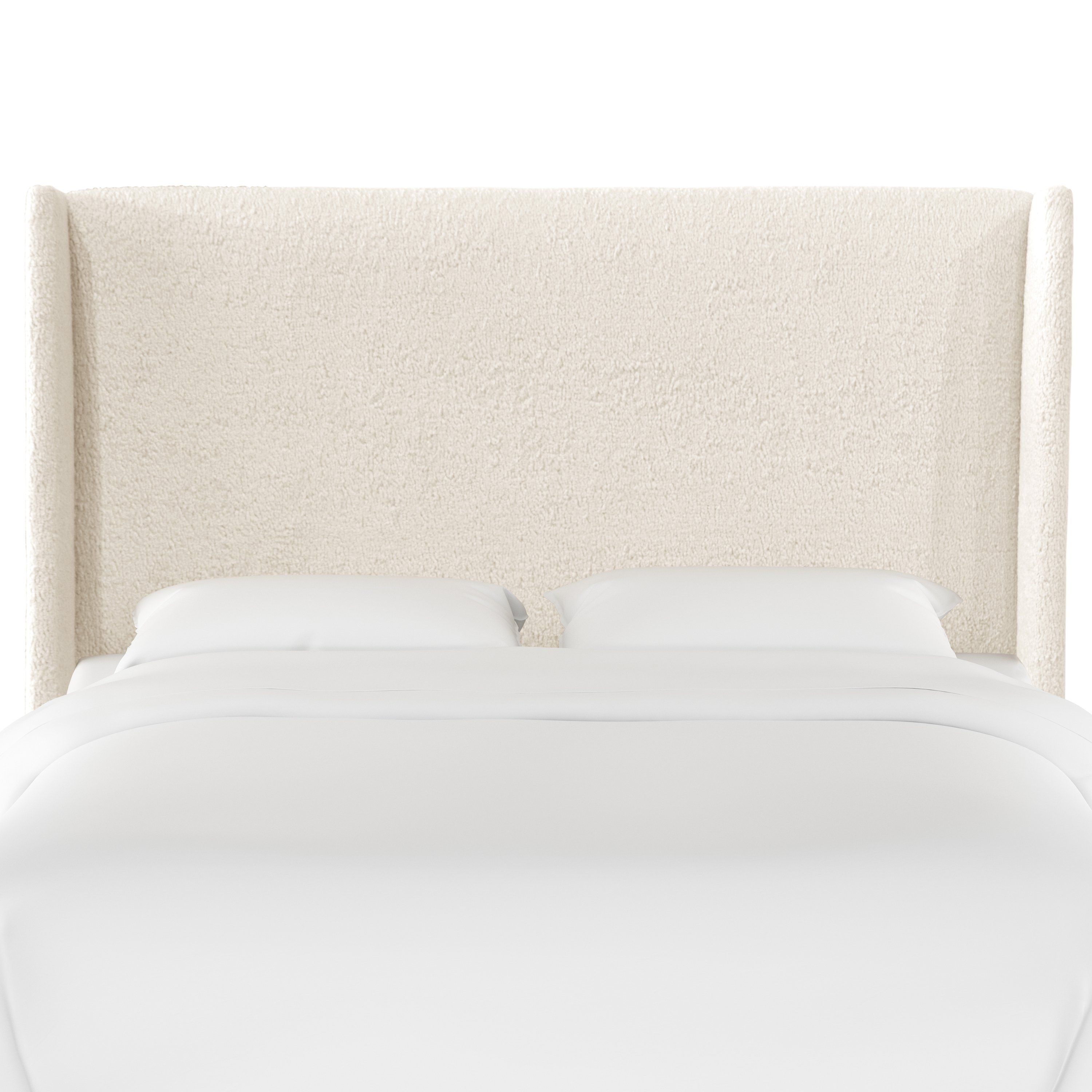 Sheepskin Natural White King Upholstered Headboard In 2020 Home Furnishings Furniture