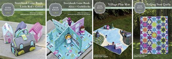 Create fold-up fabric playhouses and dolls/puppets from one fabric panel! Storybook Lane by Kelly Lee-Creel for Andover Fabrics