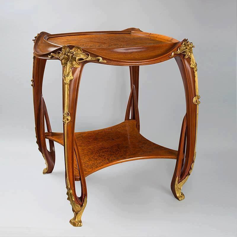 Nouveau table art objects furniture muebles for Muebles modernistas