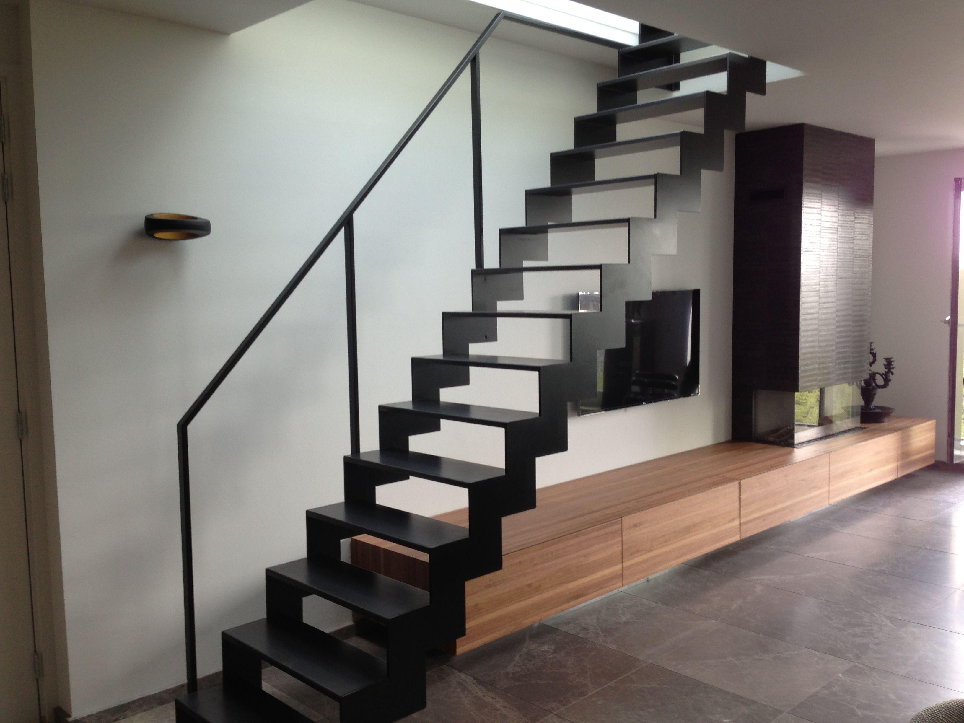 Open stalen trap stairs pinterest modern stairs