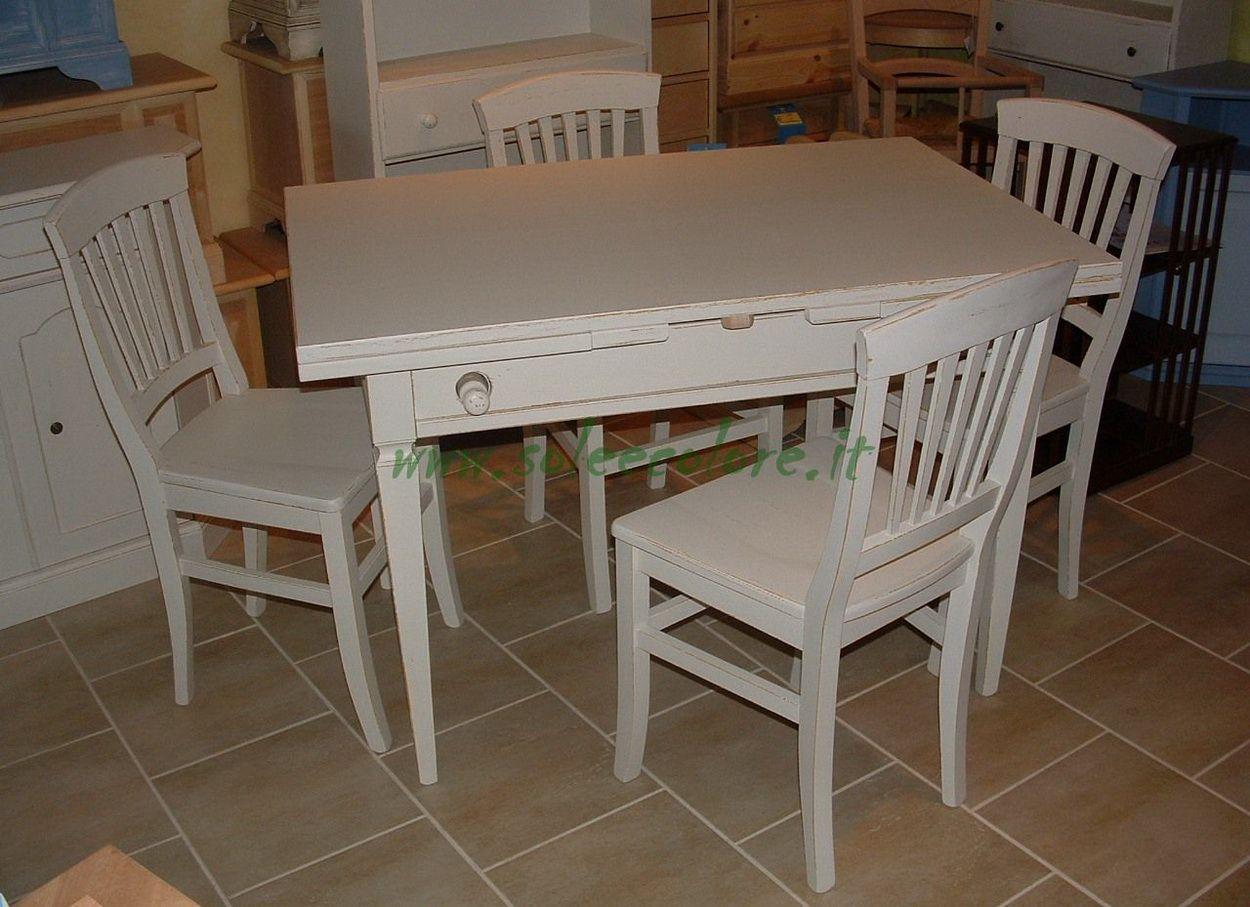 Risultati immagini per tavolo cucina bianco allungabile stile shabby ...