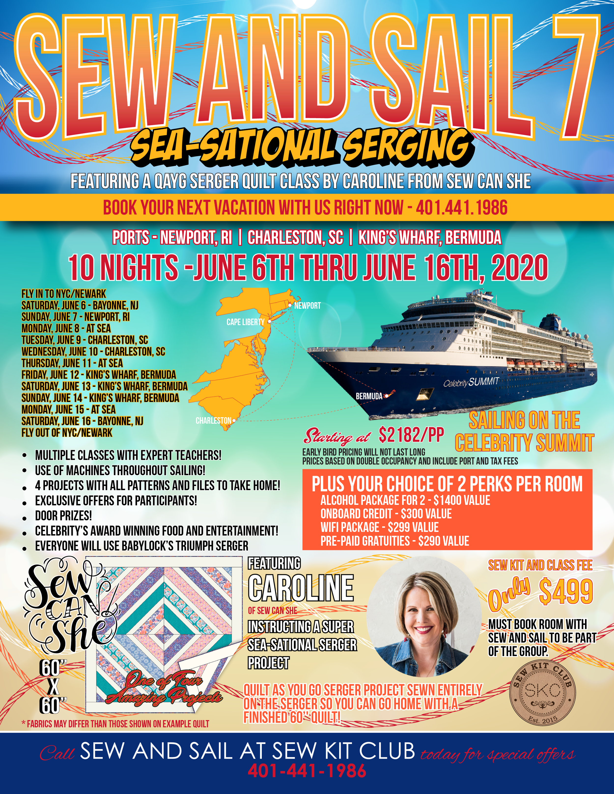 Come With Me On An Exciting Serger Cruise To Bermuda