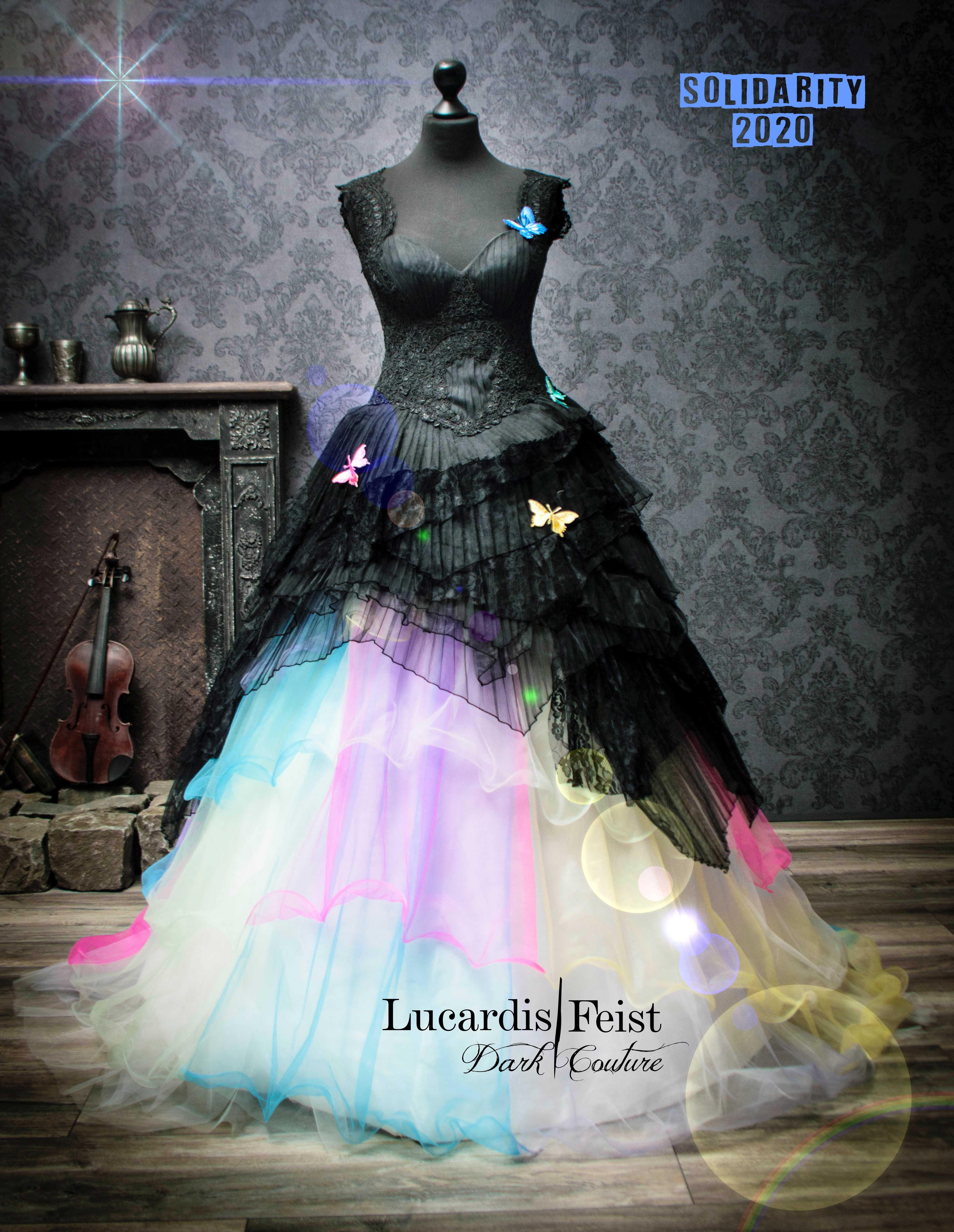 Rainbow Bridal Gowns Original Lucardis Feist Rainbow Wedding Dress Unusual Wedding Dresses Wedding Dress Inspiration [ 5987 x 4637 Pixel ]