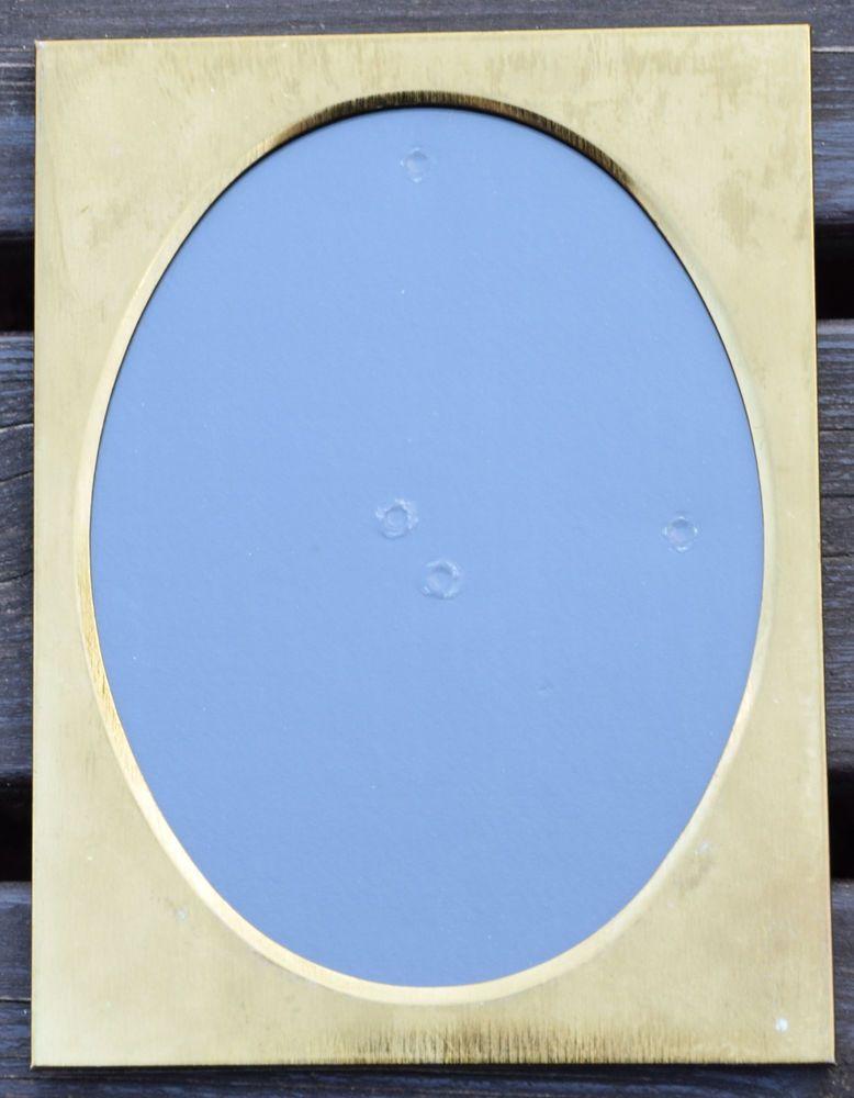 Details zu Vintage Fotorahmen Bilderrahmen für ovales Bild Metall ...