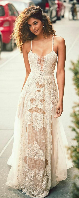 Lace wedding dress boho wedding pinterest lace wedding dresses