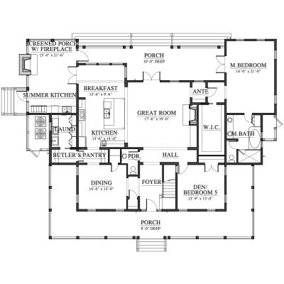 Palmetto Bluff River House House Plan C0565 Design From Allison Ramsey Architects Mansion Floor Plan Lake House Plans Floor Plans