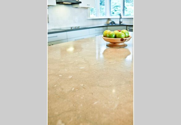 Honed Seagrass Limestone Counter Kitchen Kitchen Countertops Kitchen Projects