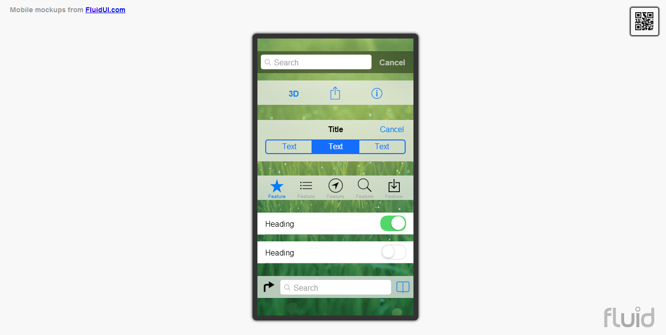 Now released new iOS 7 mobile app prototyping library