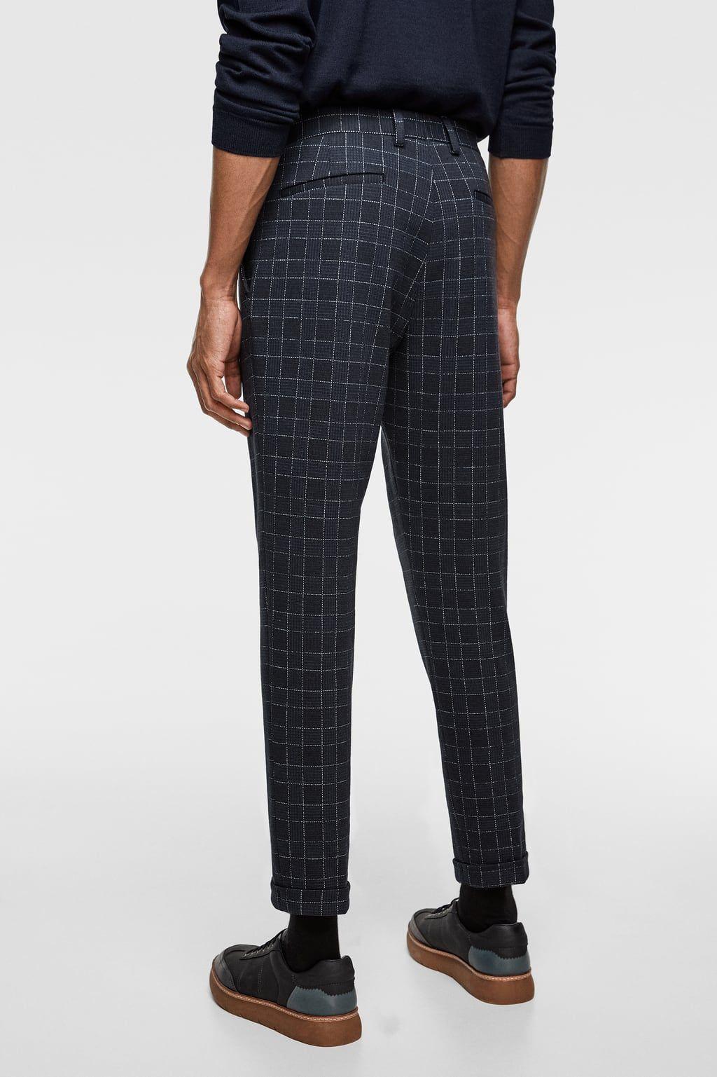 07a47a30 Plaid stretch knit suit pants | ::lhomme:: | Pants, Suits, Parachute ...