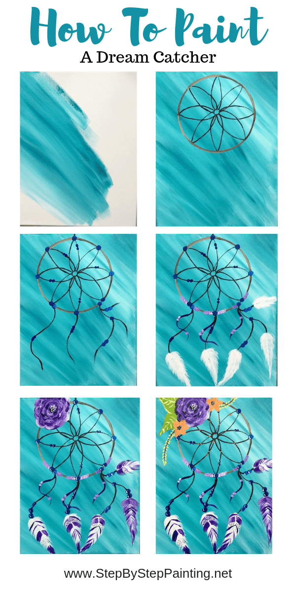 Dream Catcher Painting Acrylic Painitng Tutorial With Pictures Dream Catcher Painting Canvas Art Painting Canvas Painting Diy