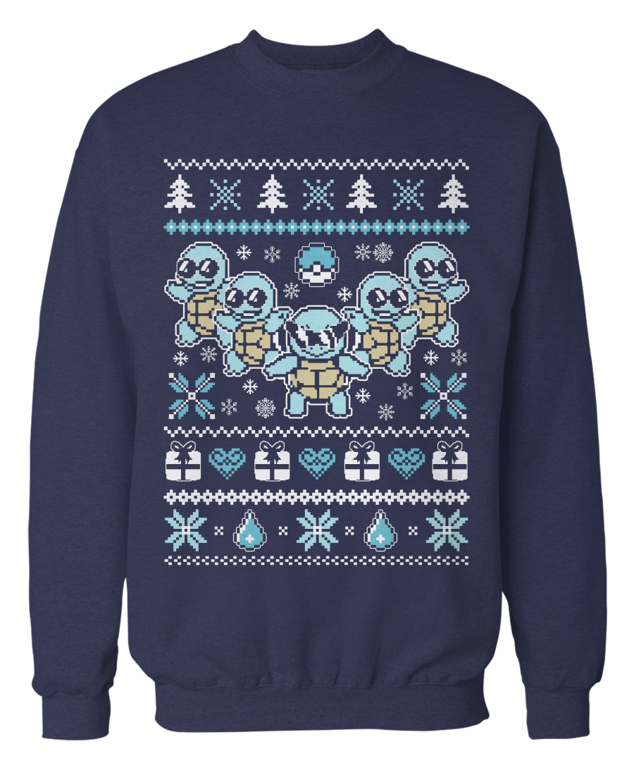Ugly Christmas Sweater - Gamer Holiday Apparel | Pokémon World ...