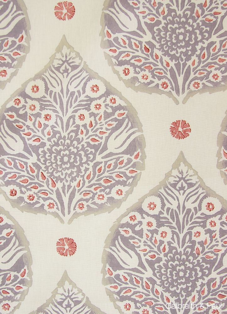 Galbraith & Paul Lotus wallpaper, Fabric wallpaper