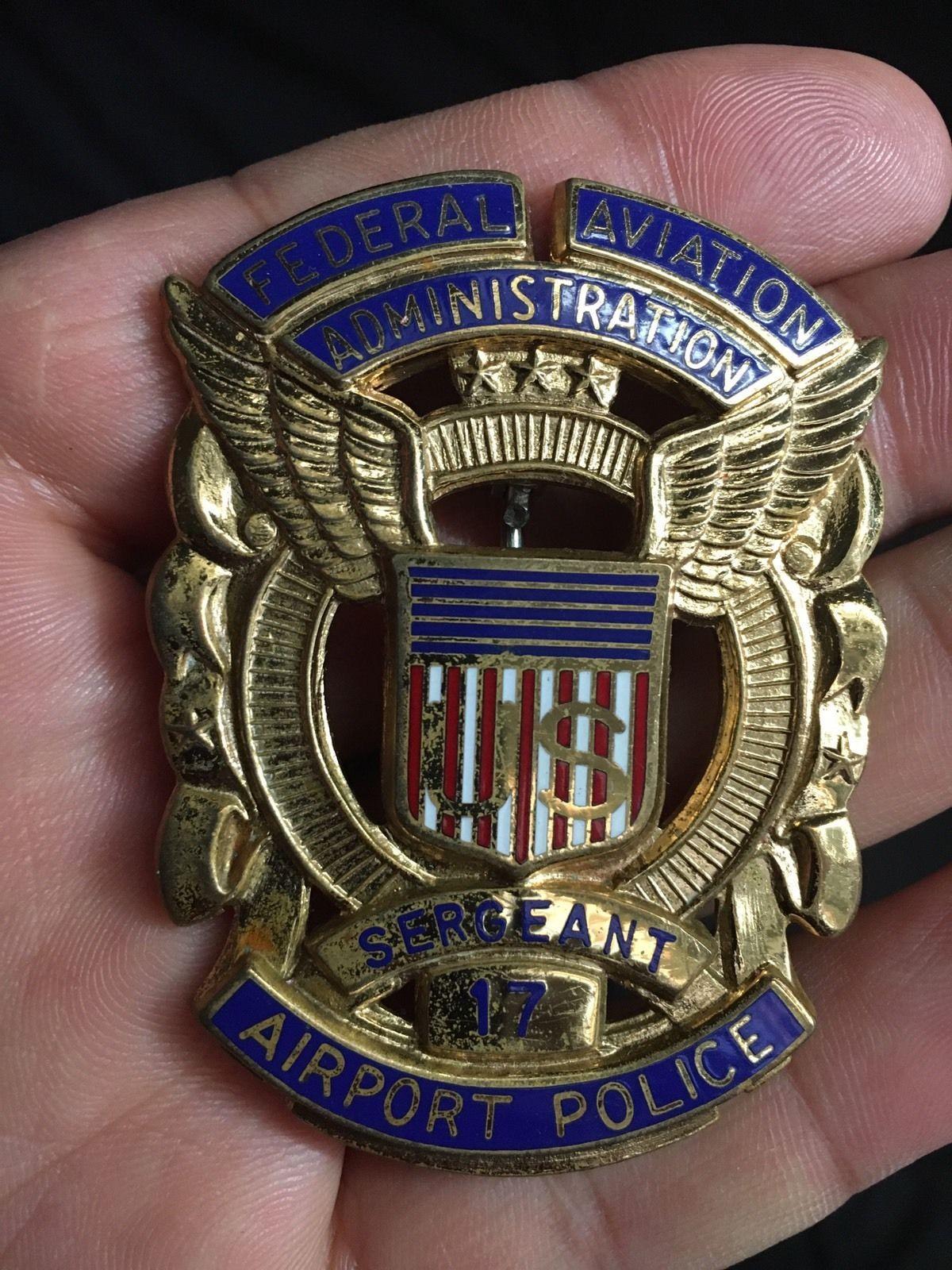 Police cap badges ga rel hat badges page 1 garel - Federal Aviation Administration Airport Police Sergeant
