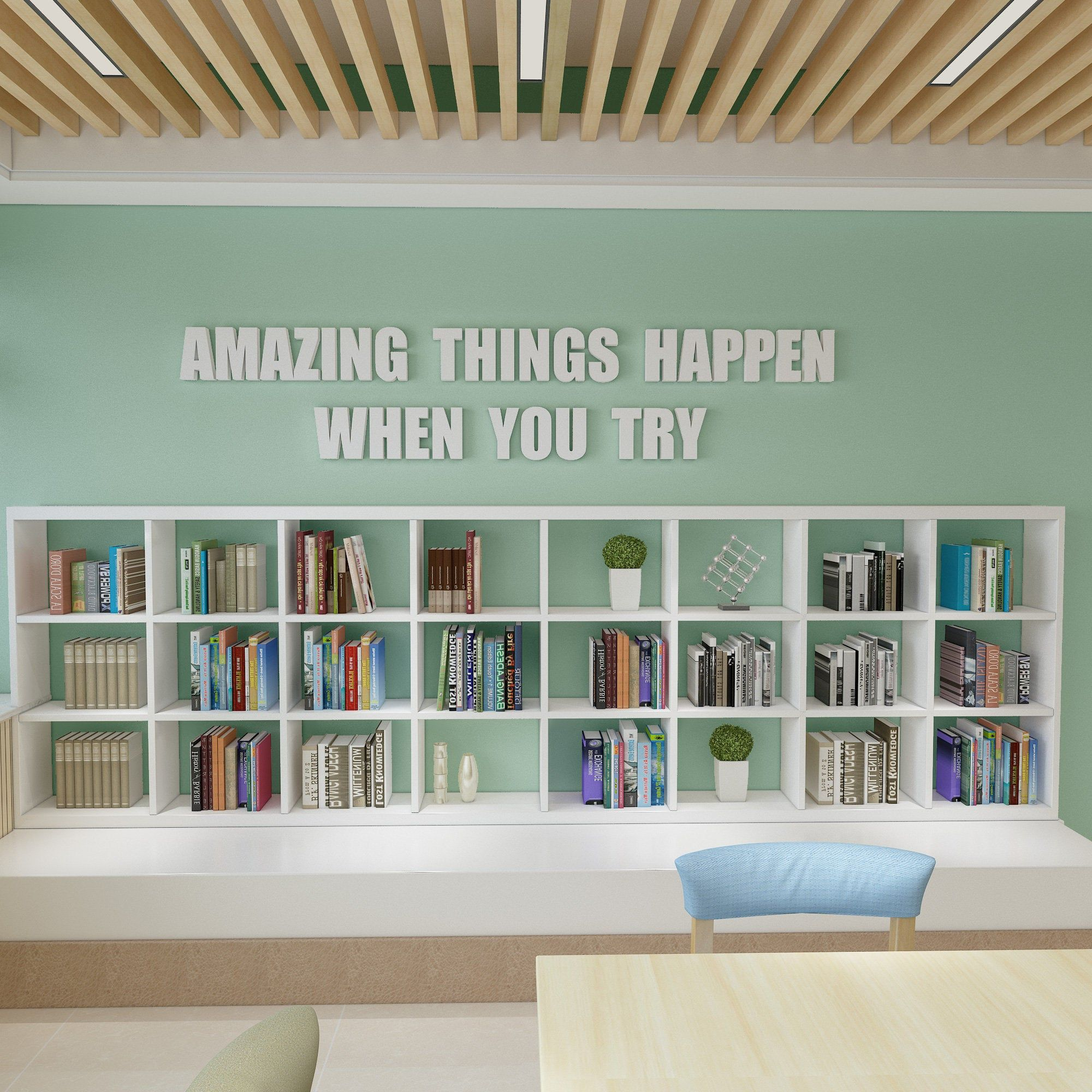 Amazing Things Happen When you Try Classroom Decor 3D Quote   Etsy