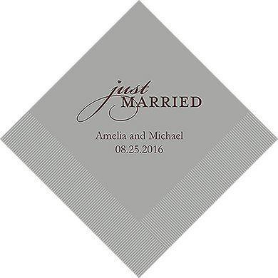 Just Married Printed Napkins