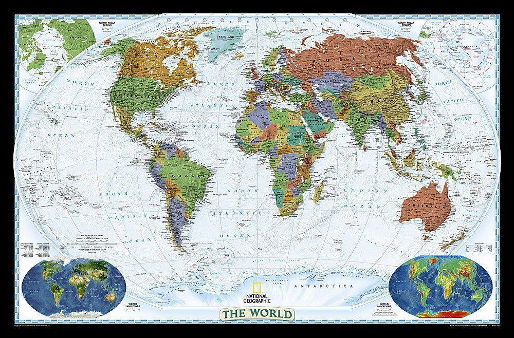 World decorator enlarged and sleeved by national geographic maps gumiabroncs Choice Image