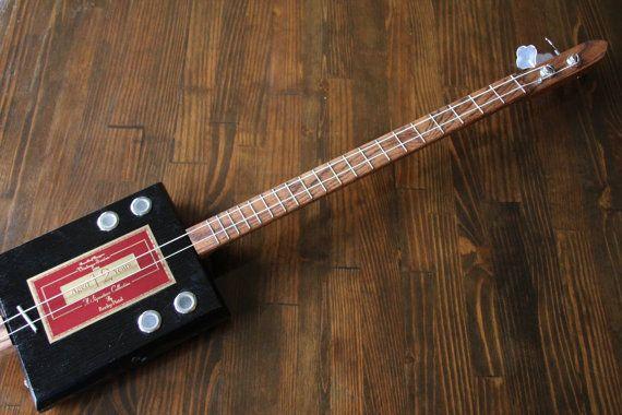 Cigar Box Bass Guitar 2 String by MonkeyPox on Etsy, $110.00