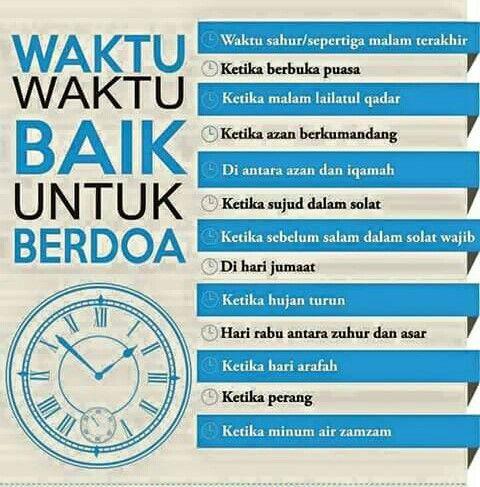 Waktu Waktu Baik Untuk Berdoa Doa
