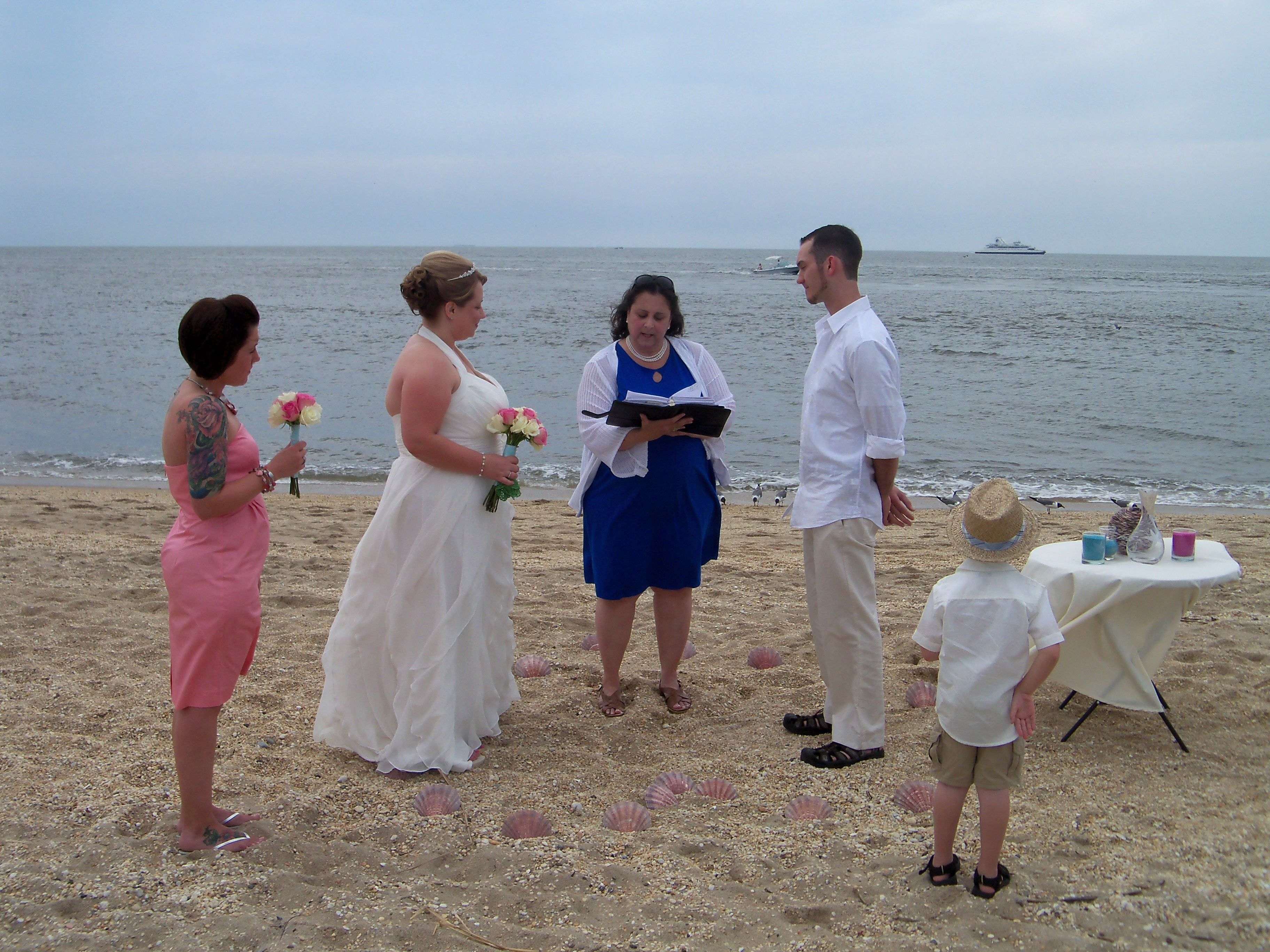 Married At Sunset Beach Cape May County Nj Nj Wedding Officiant