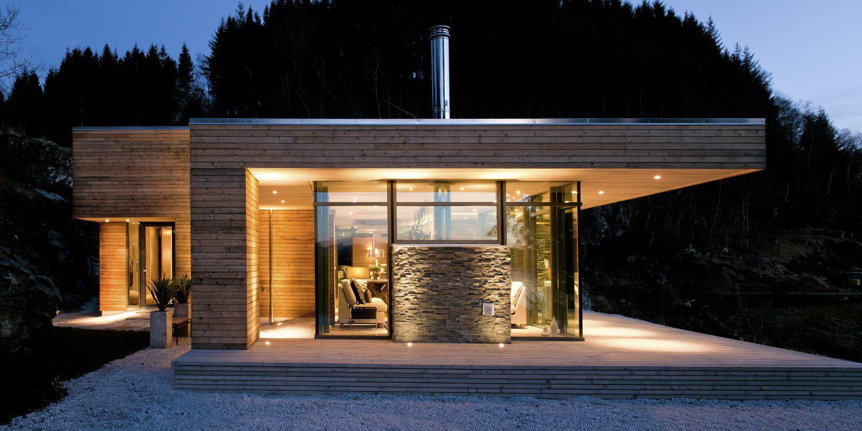 Flott eksempel p fin utvendig kledning med liggende panel for Modern house 52