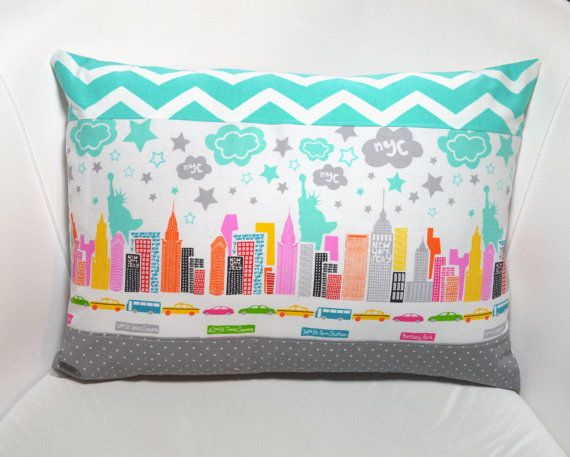 NYC pillow cover, cushion cover, New York, The Big Apple ...