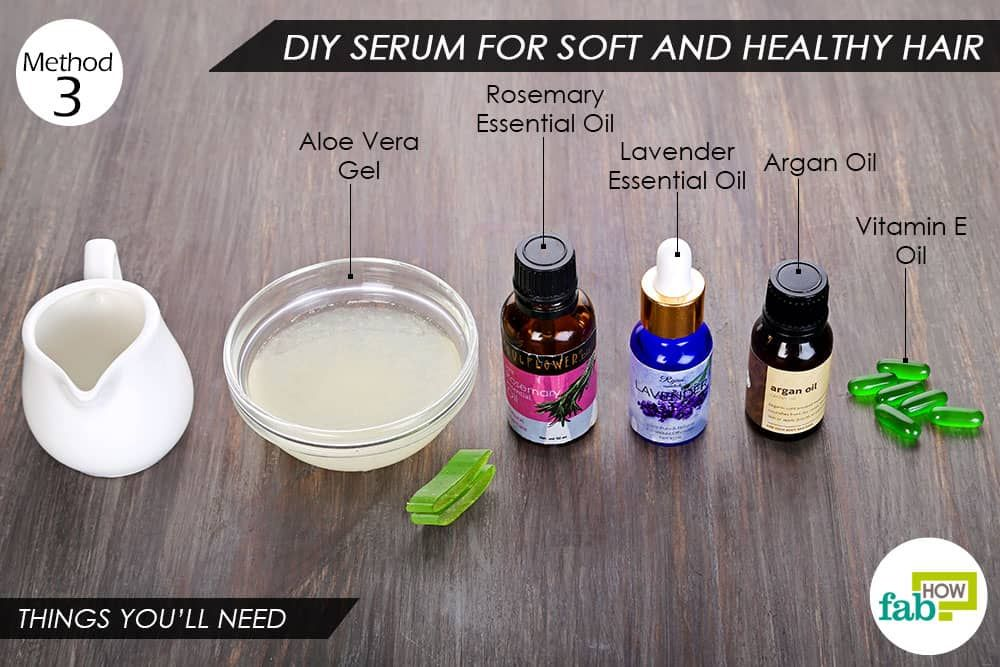 How to use vitamin E oil to prepare DIY hair serum for