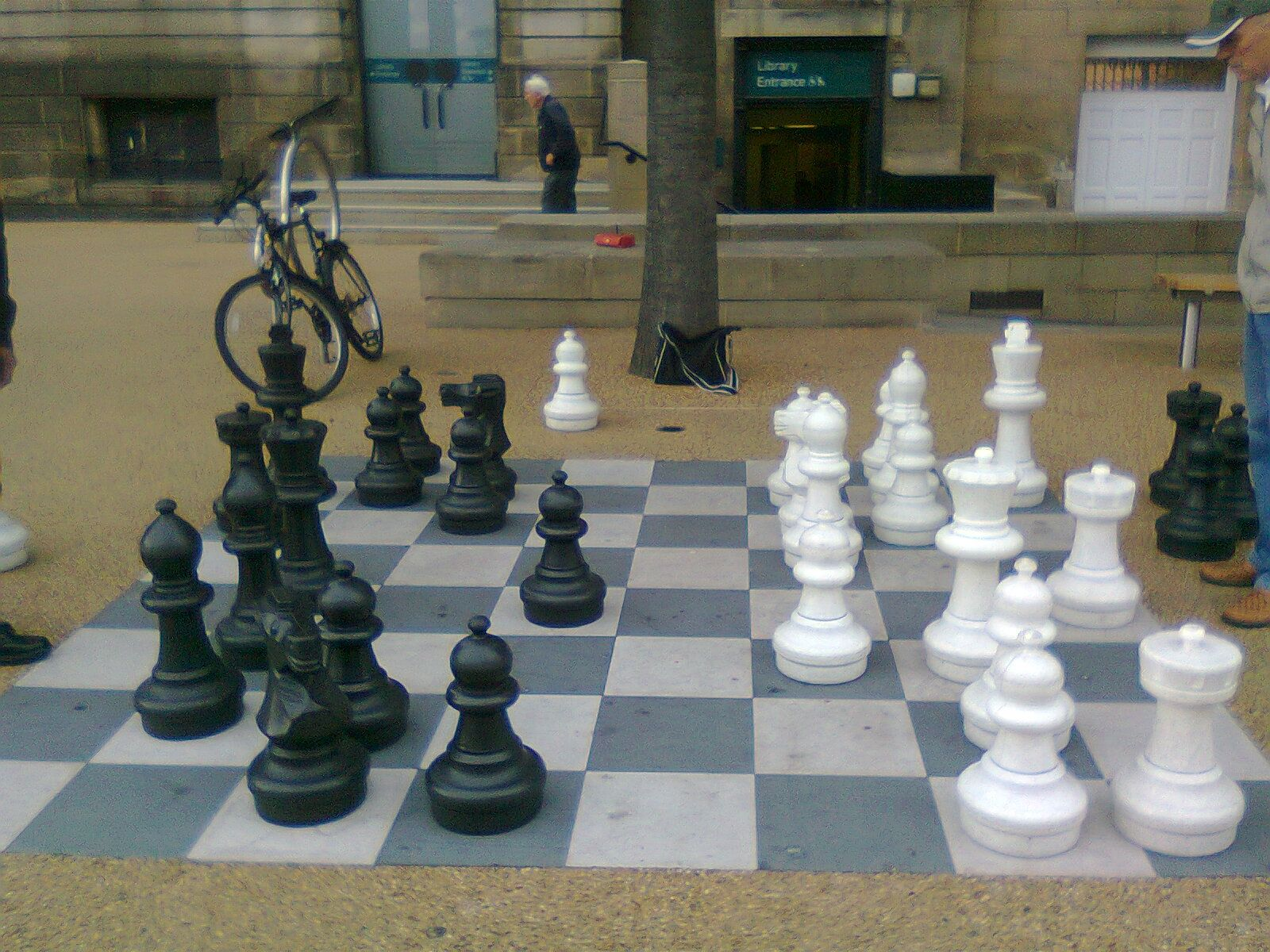 Life-sized Chess Board off the Headrow, Leeds