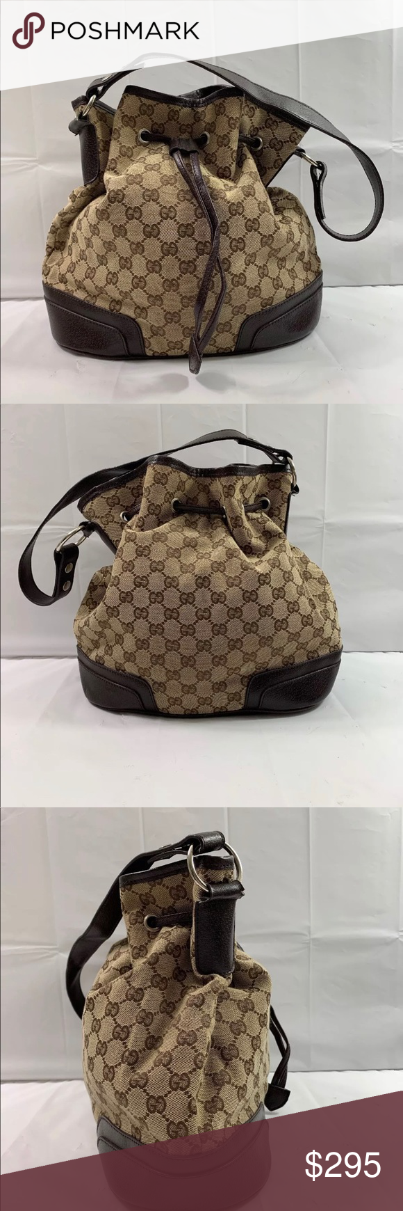 35ad4bd332e7 Shoulder Bags · Handbags · Gucci GG Canvas PVC Drawstring Handbag Purse Up  for your consideration I have a Gucci GG