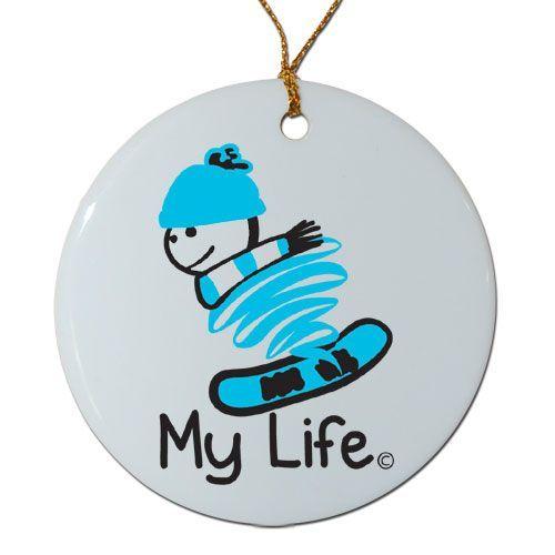 Porcelain My Life Snowboard Ornaments