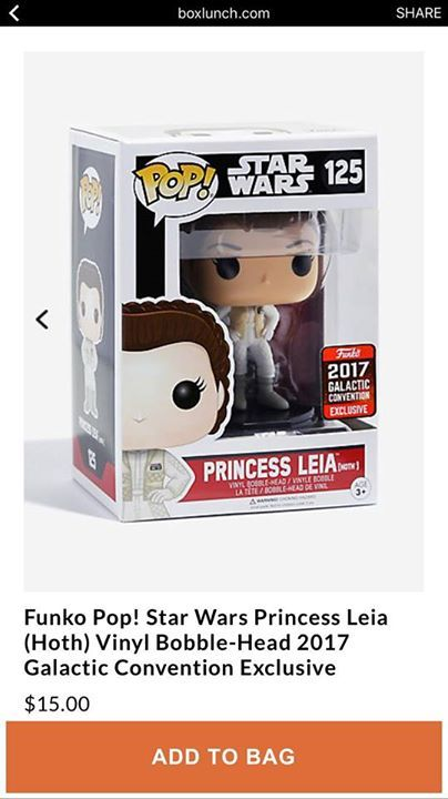 PoP! Star Wars Princess Leia (Hoth) Exclusive 2017 Galactic Convention Exclusive http://www.boxlunch.com/product/funko-pop-star-wars-princess-leia-hoth-vinyl-bobble-head-2017-galactic-convention-exclusive/10846850.html#q=Funko%2Bleia&start=4 #funkopop #funkopops #funko #funkos #popvinyl #funkopopvinyl #funkopopvinyls #funkopopvinylfigure #funkopopvinylfigures #funkopopvinyltoy #funkopopvinyladdiction #funkopopvinyluk #funkopopvinylcollector #funkopopvinylphotography #funkopopvinyle…