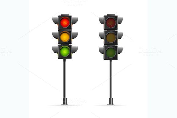 Road Traffic Light Vector Traffic Light Traffic Lamp Light