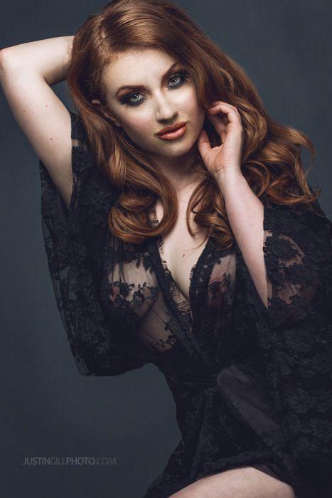 Glamour model redhead