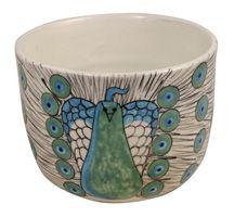peacock pottery