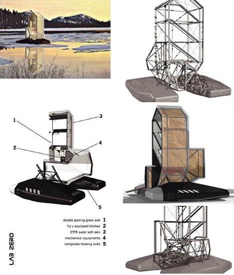 Organic + Nomadic U003d Green Floating Home Design Idea