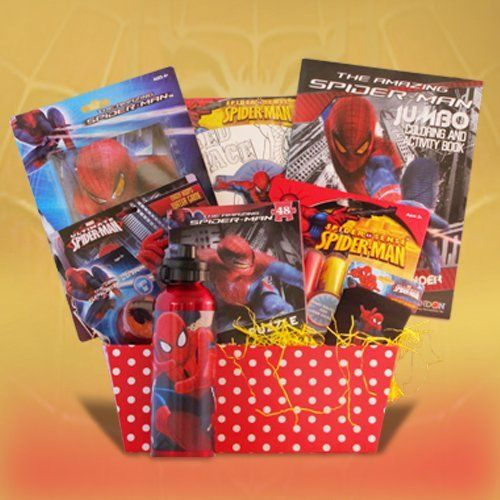 Ideal get well birthday candy activity gift baskets for boys by ideal get well birthday candy activity gift baskets for boys by spiderman hero by negle Image collections