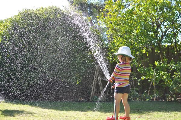 Water play outside