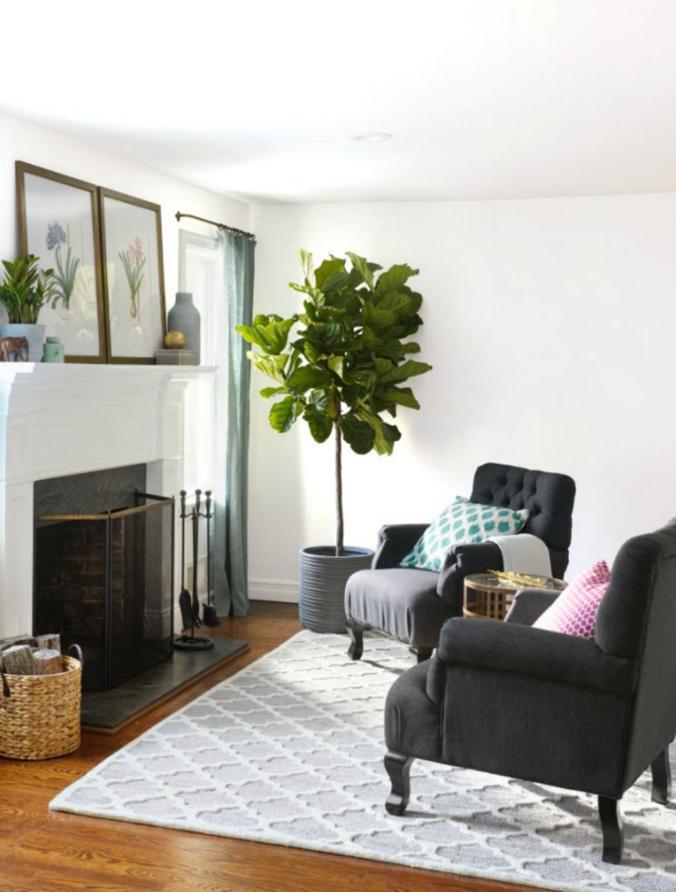 How This Cluttered Living Room Turned Into A Stunning Living Space
