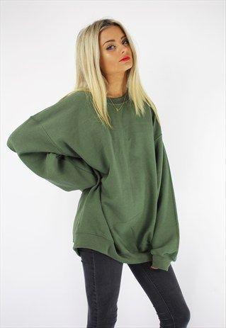 621949c08 Basic oversized boyfriend sweater khaki