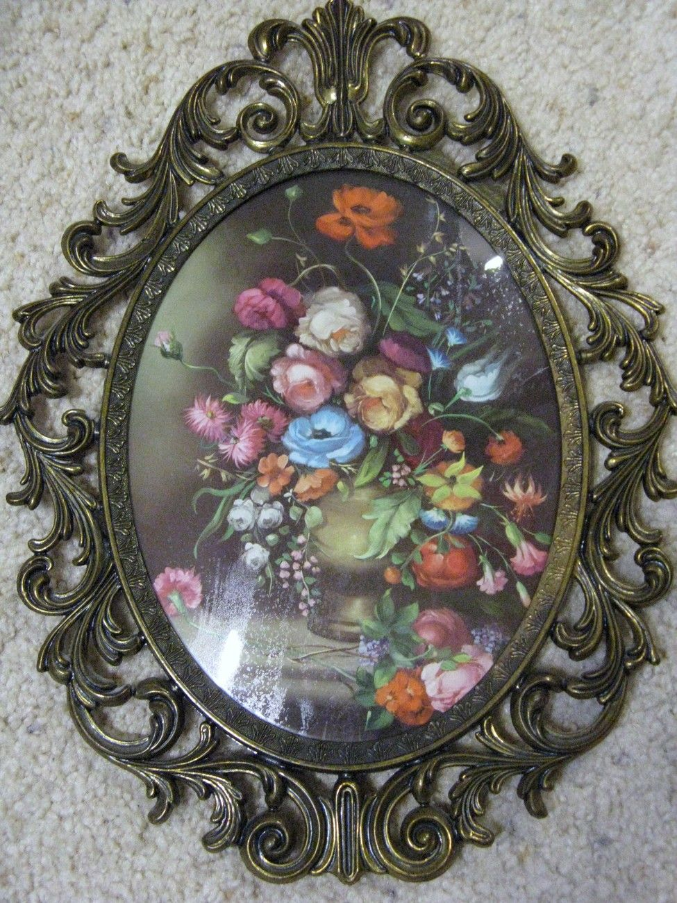 Vintage Glass Picture Frames VINTAGE OVAL DOMED GLASS