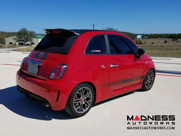 Fiat 500 Abarth Cabrio Carbon Fiber Roof Spoiler Extension By