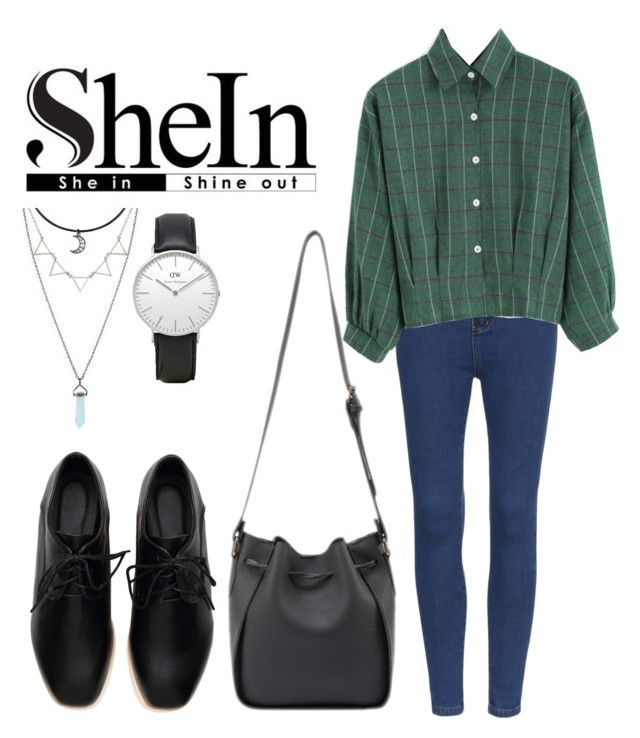 """SHEIN"" by nguyethang on Polyvore featuring Daniel Wellington"