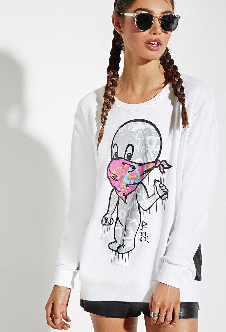 276068f9 Alec Monopoly x Forever 21 Casper Graphic Sweatshirt | Forever 21 -  2000161833